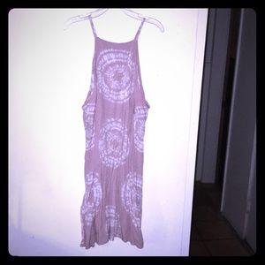 Tie-Dye Halter Dress